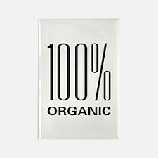 100% Organic Design Rectangle Magnet