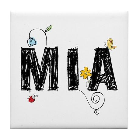 Floral Mia Tile Coaster