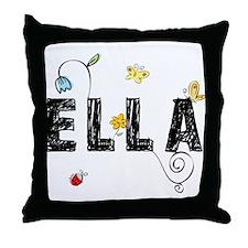 Ella Floral Throw Pillow
