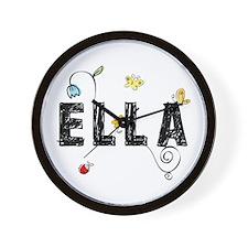 Ella Floral Wall Clock