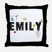 Floral Emily Throw Pillow