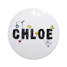 Chloe Floral Ornament (Round)