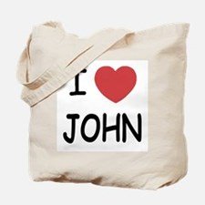 I heart John Tote Bag
