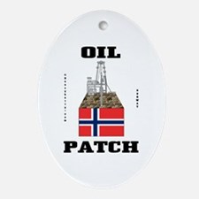 Norwegian Oil Fields Ornament (Oval)