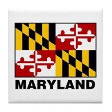 Cute Maryland terrapins Tile Coaster