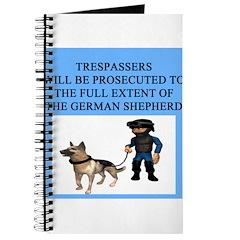 german shepherd trespasser Journal