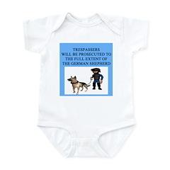 german shepherd trespasser Infant Bodysuit