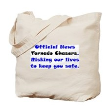 Official Tornado Chasers Tote Bag