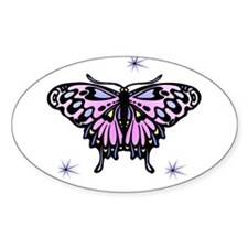 Pretty Butterfly Oval Decal