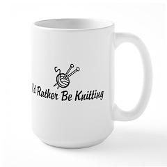 Funny knitting Large Mug