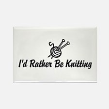 Funny knitting Rectangle Magnet