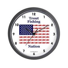 Trout Fishing Nation Wall Clock