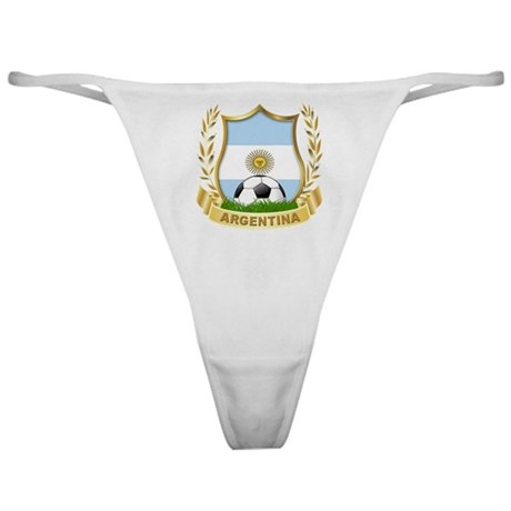 Argentina world cup soccer Classic Thong