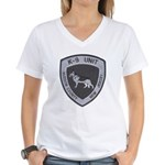 Hudson County K9 Women's V-Neck T-Shirt