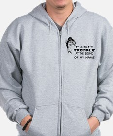 Fish Tremble at the Sound of Zip Hoodie