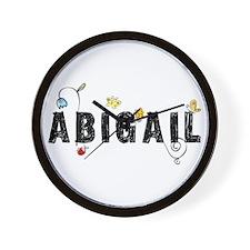 Abigail Floral Wall Clock