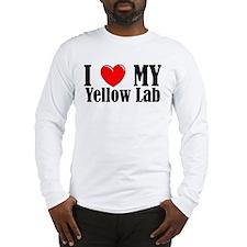 I Love My Yellow Lab Long Sleeve T-Shirt