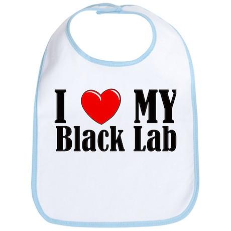 I Love My Black Lab Bib