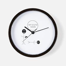 STUPID NOOB Wall Clock