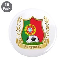 """Portugal soccer 3.5"""" Button (10 pack)"""