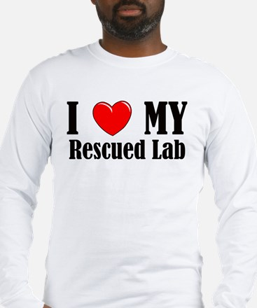 I Love My Rescued Lab Long Sleeve T-Shirt
