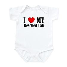 I Love My Rescued Lab Infant Bodysuit