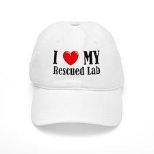 I Love My Rescued Lab Baseball Cap