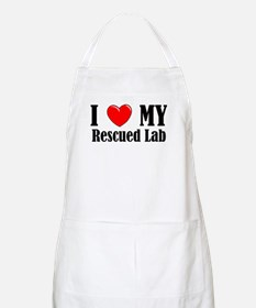 I Love My Rescued Lab Apron