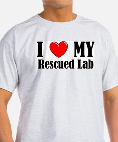 I Love My Rescued Lab T-Shirt