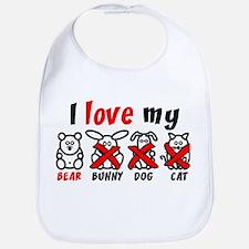 I Love My Bear XXX Bib