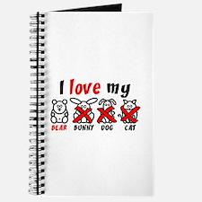 I Love My Bear XXX Journal
