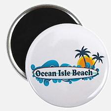 Ocean Isle Beach NC - Surf Design Magnet
