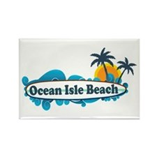 Ocean Isle Beach NC - Surf Design Rectangle Magnet