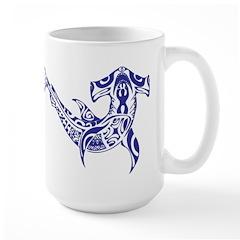 Tribal Shark Large Mug