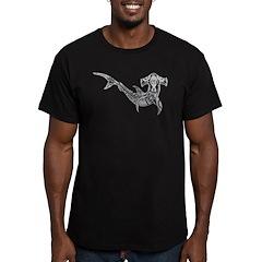 Tribal Shark Men's Fitted T-Shirt (dark)