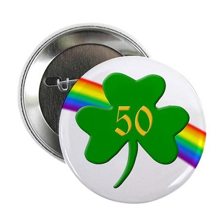50th Shamrock Button