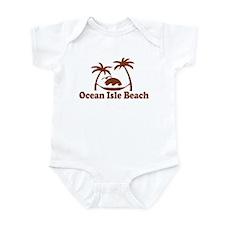 Ocean Isle Beach NC - Sun and Palm Trees Design In