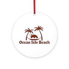 Ocean Isle Beach NC - Sun and Palm Trees Design Or