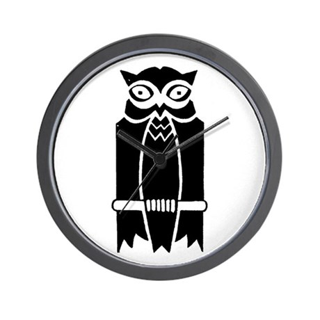 Owl Silhouette Wall Clock