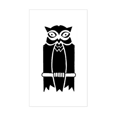 Owl Silhouette Sticker (Rectangle)