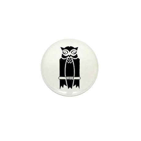 Owl Silhouette Mini Button (10 pack)