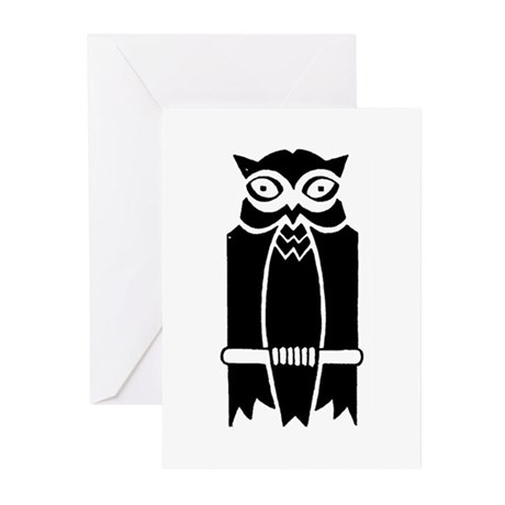 Owl Silhouette Greeting Cards (Pk of 20)