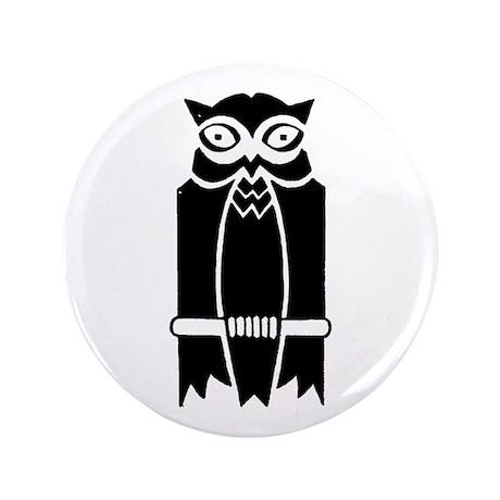 "Owl Silhouette 3.5"" Button"