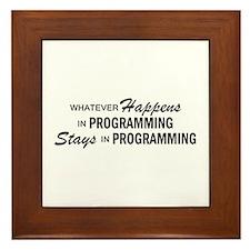 Whatever Happens - Programming Framed Tile