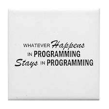 Whatever Happens - Programming Tile Coaster