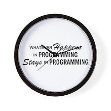 Whatever Happens - Programming Wall Clock