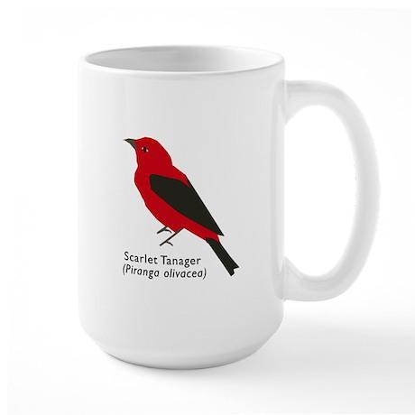 scarlet tanager Large Mug