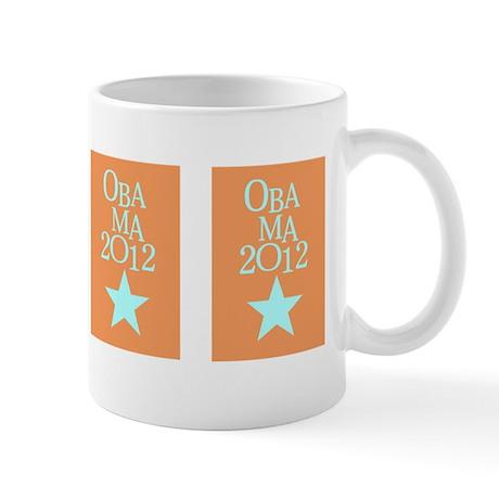 OBAMA 2012 Blue Star Mug