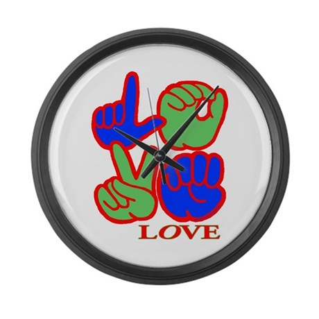 Square F.S. LOVE Large Wall Clock