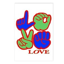 Square F.S. LOVE Postcards (Package of 8)